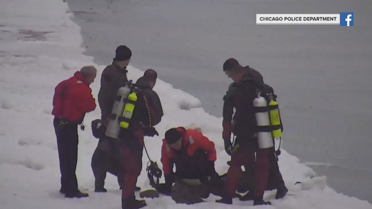 A man was rescued from the frigid waters of Lake Michigan over the weekend.