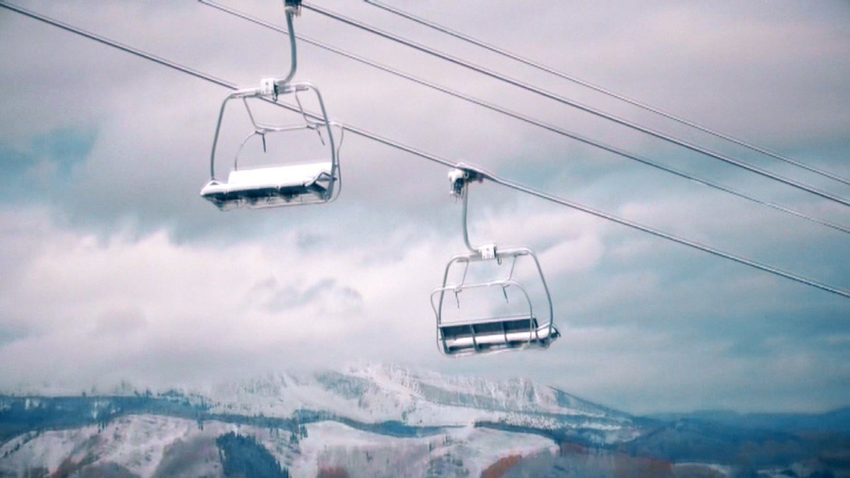 A man was asphyxiated while trying to load a chairlift in Colorado.