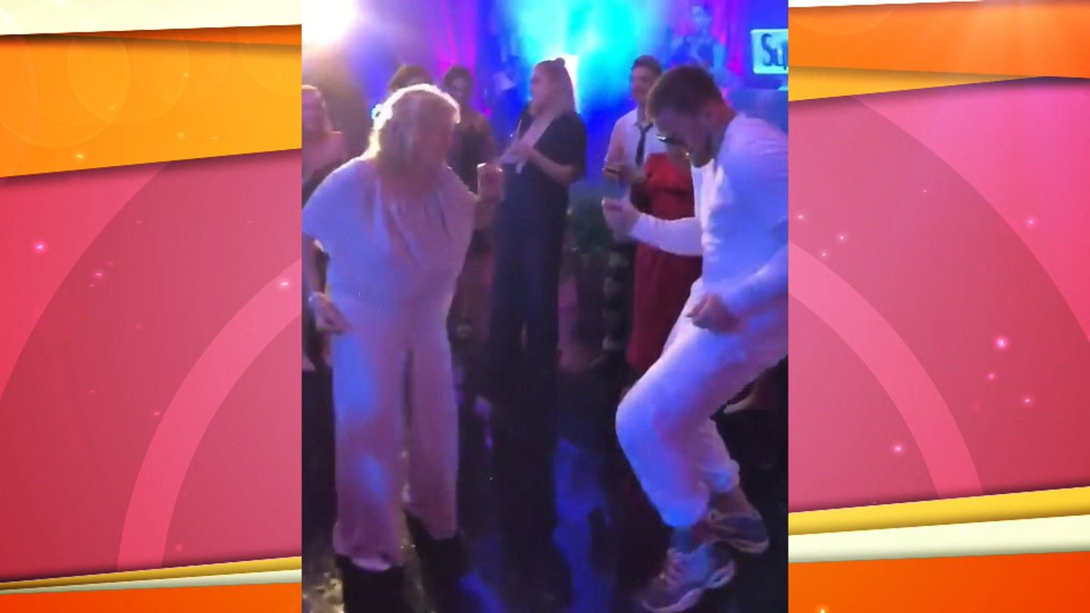 J.J. Watt got married over the weekend and he boogied on the dance floor with his grandma.