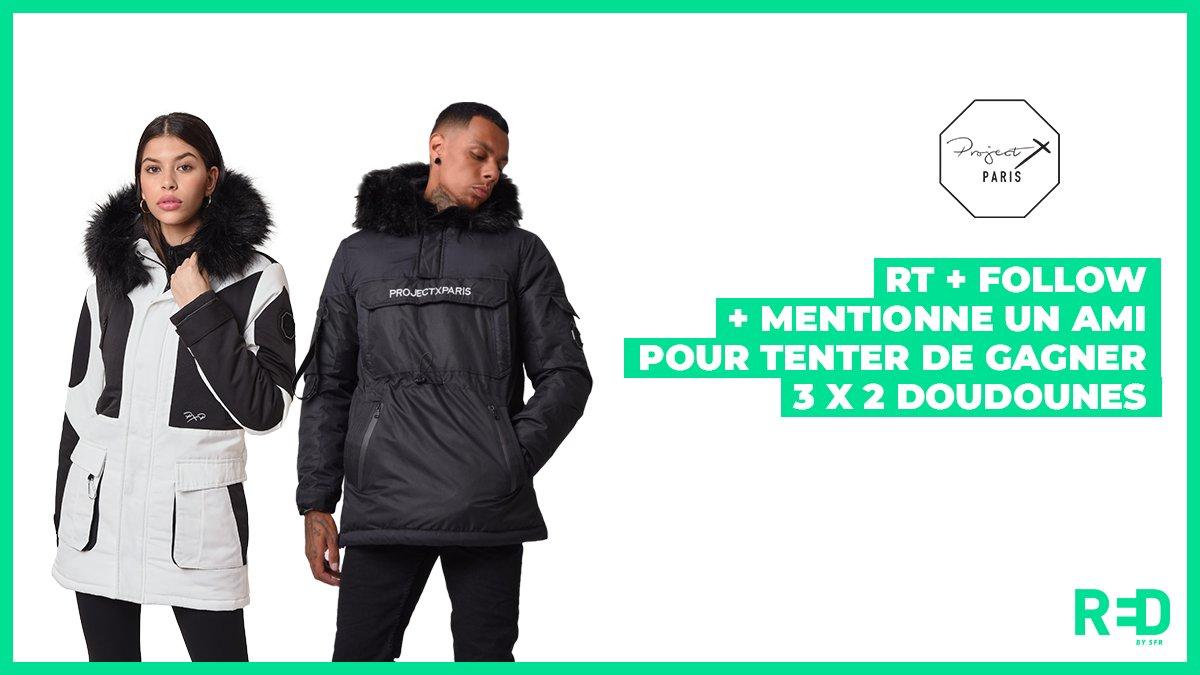 [#Concours] du 17/02 au 24/02, tente de gagner 3 x 2 doudounes @Project_X_Paris pour garder un peu de chaleur 🔥 RT + Follow les comptes @REDbySFR et @Project_X_Paris + Mentionne 1 ami à qui tu veux faire gagner la 2ème doudoune. #ProjectXParis