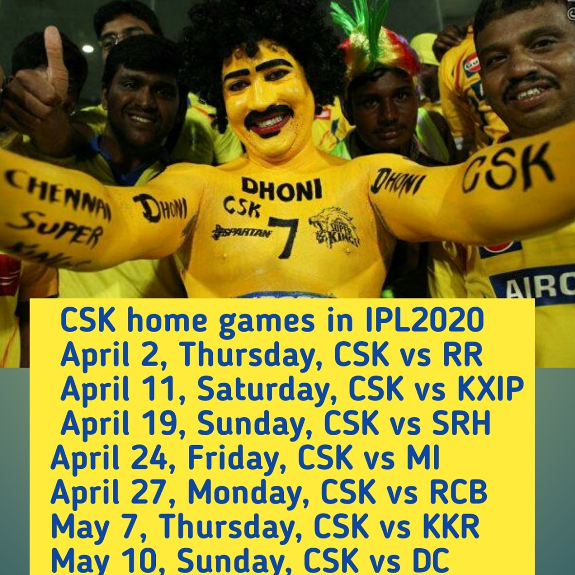 Excited for this year IPL at Anbu-Den 🏟 @ChennaiIPL #Dhoni #Csk #Yellove