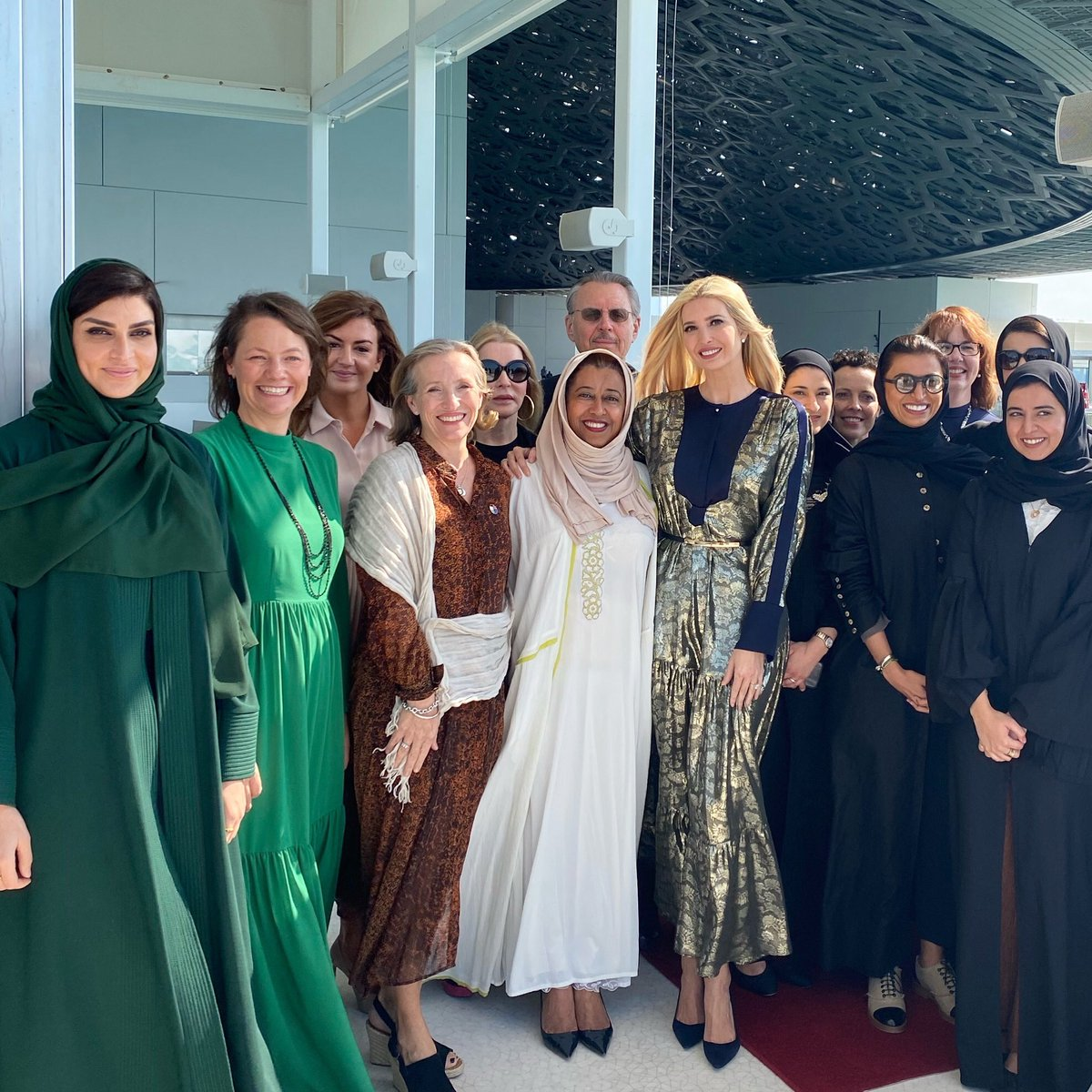 Today at the Louvre Museum Abu Dhabi I met with UAE female ministers & entrepreneurs   Together we seek to advance gender equity throughout the region. 🇺🇸🇦🇪 #WGDP