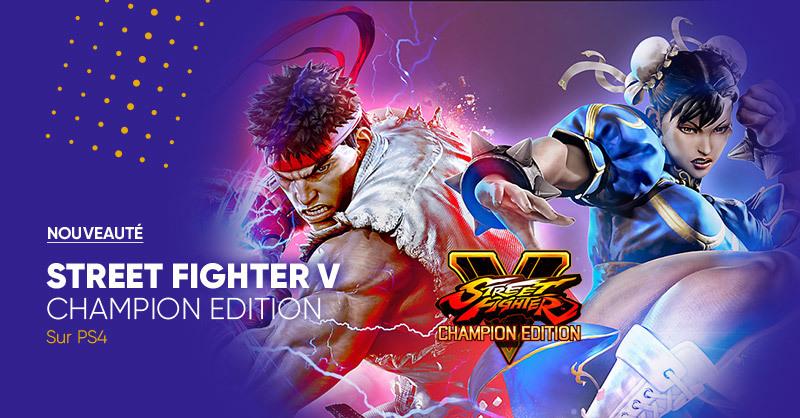 GAMING 🎮 | Nouveauté ✨ Street Fighter V Champion Edition sur PS4 🥊 est disponible en précommande ! 😏👉