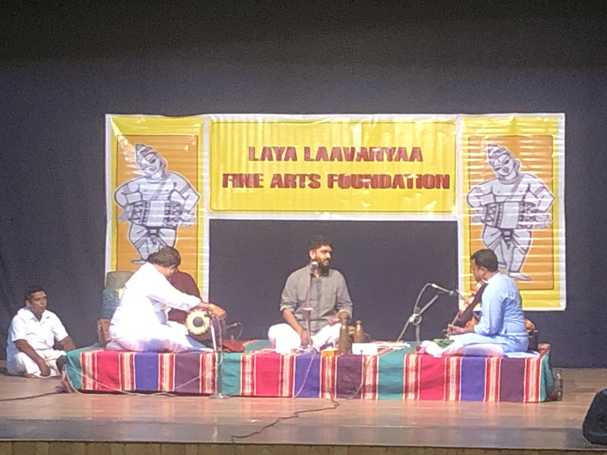 Thank you @sidsriram for the brilliant concert at Narada Gana Sabha, special thanks for your exquisite Kalyani.!!