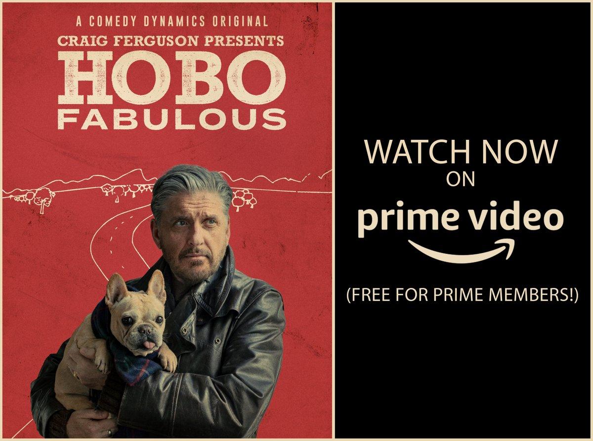 Hobo Fabulous is now free to stream for @amazon prime members! Go watch it here:  @comedydynamics @PrimeVideo #hobofabulous #thecraigfergusonshow #amazonprime #AmazonPrimeVideo