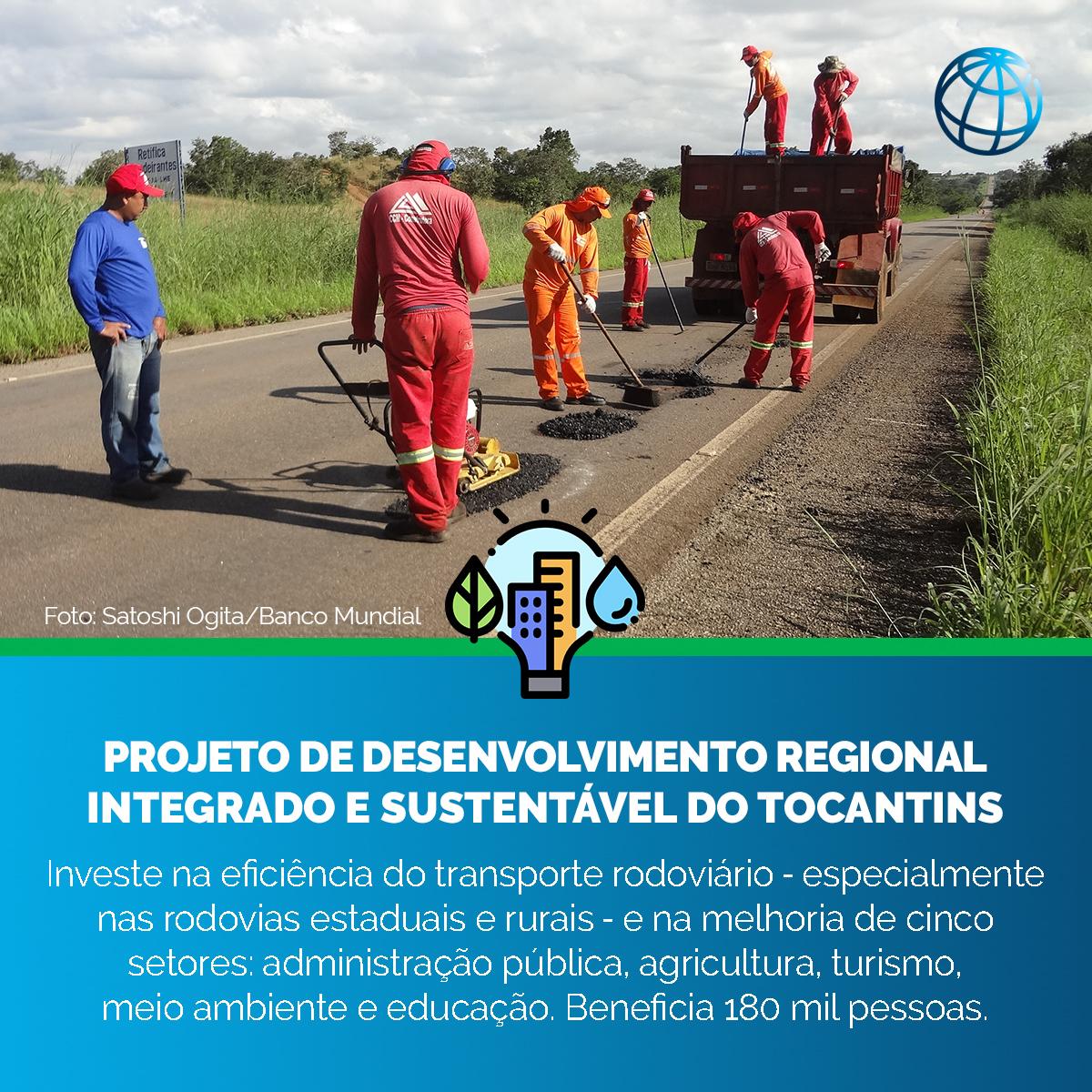 Este projeto do Banco Mundial ouviu em primeira mão as comunidades do #Tocantins sobre a seleção de estradas que precisavam de melhorias e sobre suas prioridades de desenvolvimento. Conheça alguns dos resultados!