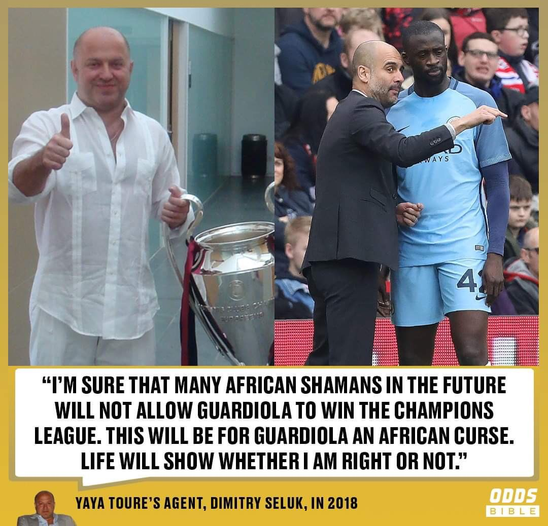 Yaya Toure's agent foresaw Pep Guardiola's misfortune 🤯👀 https://t.co/s1G7WrOhMr
