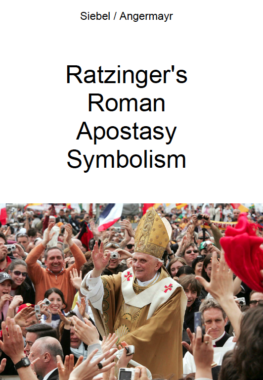 Ratzinger's Roman Apostasy Symbolism -  Don't be fooled by Benedict XVI playing poor Pope Emeritus these days… #CatholicTwitter #infiltration #catholic #pope #popefrancis #vatican