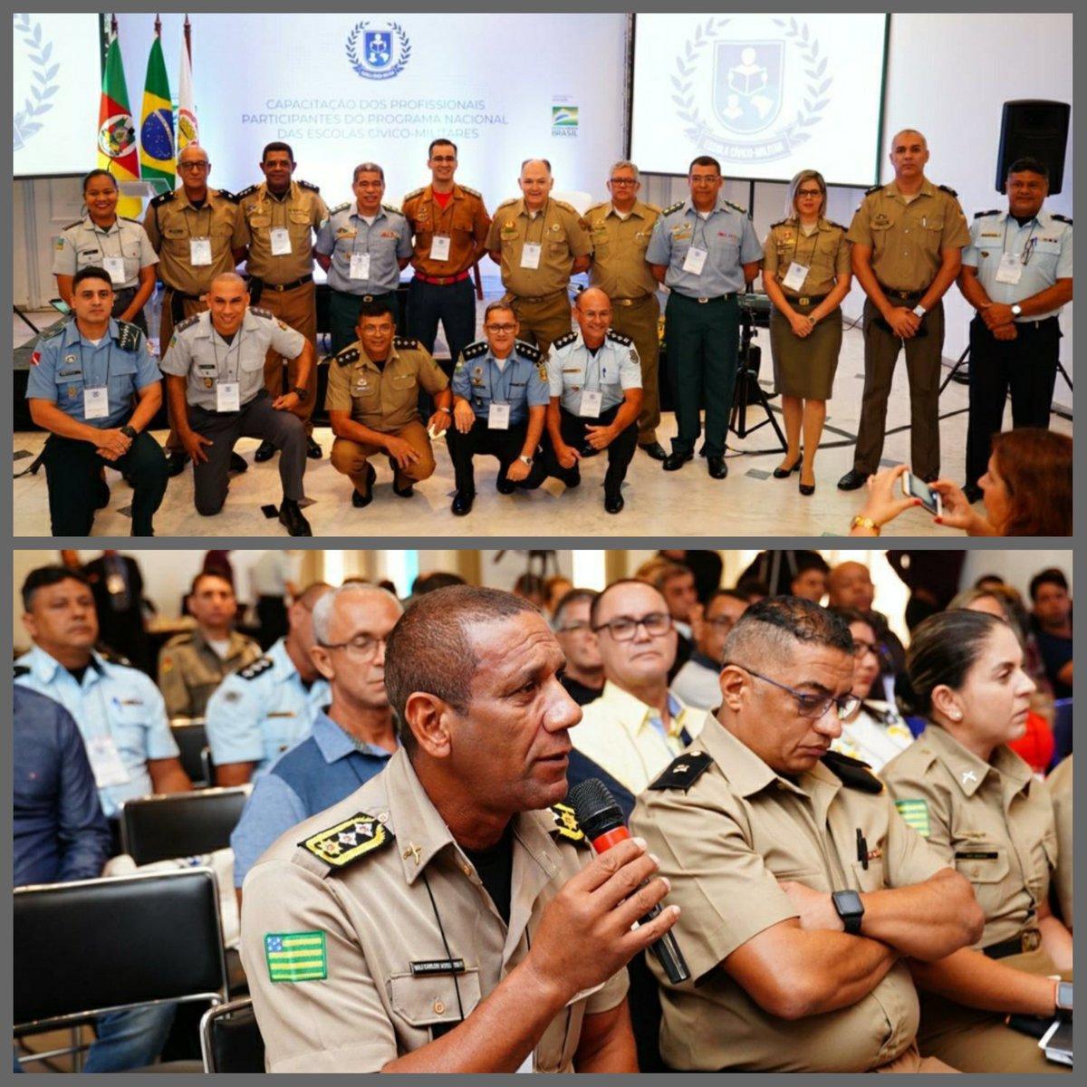 No RS, mais uma rodada de capacitações para implementação das 54 escolas cívico-militares de 2020 (Governo @jairbolsonaro). Policiais, bombeiros e gestores de Secretarias de Educação participaram. Parabéns aos envolvidos nessa honrosa missão! Via @MEC_Comunicacao @AbrahamWeint