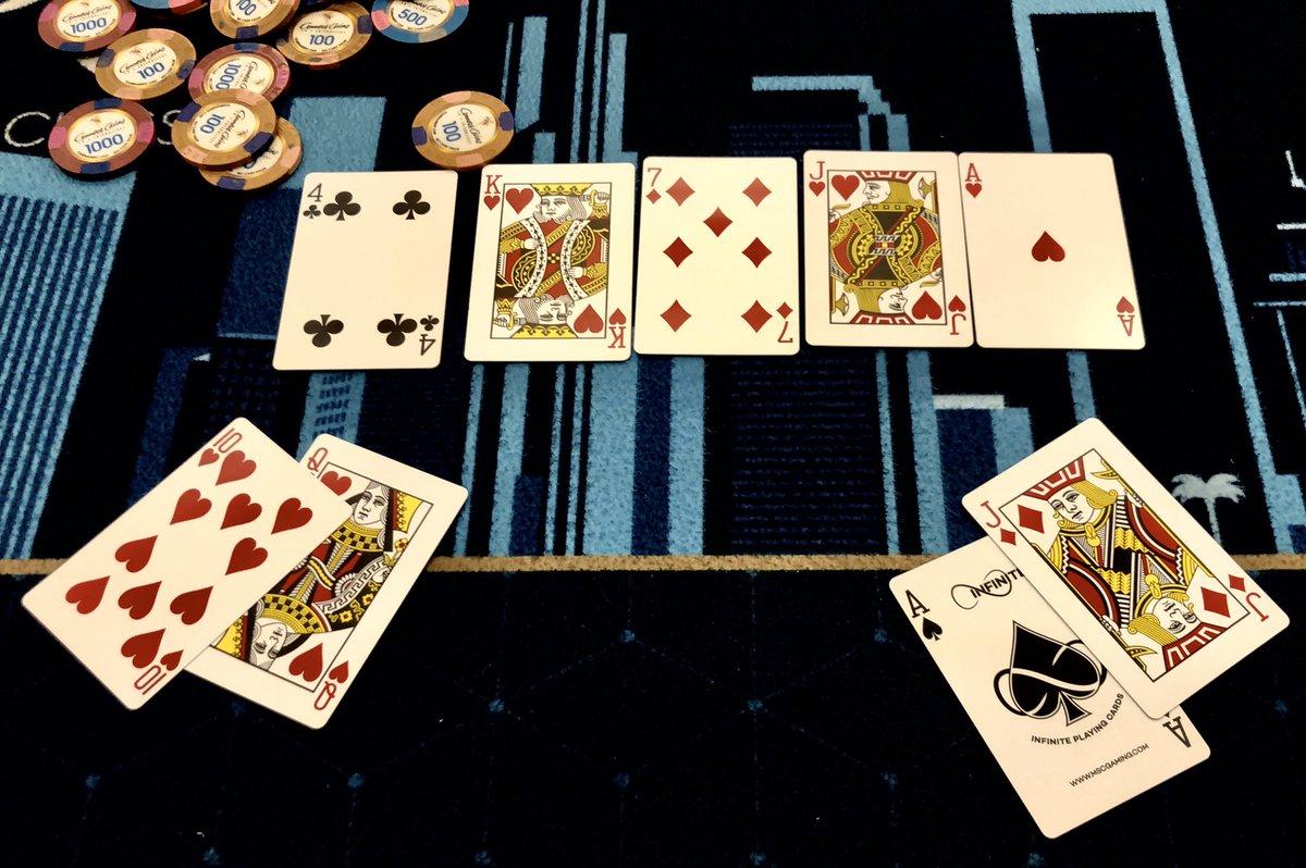 Poker is fun. I had AJ in this hand... #LAPC