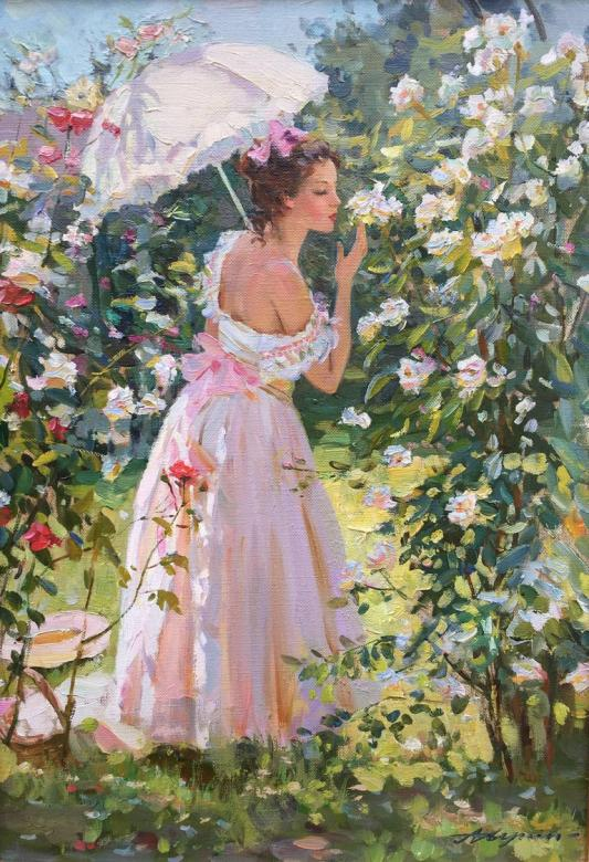 Alexander Averin Russian painter, his art reflects nature in soft colors.   Summer   Have a beautiful night https://t.co/0p7Lb4KlNv