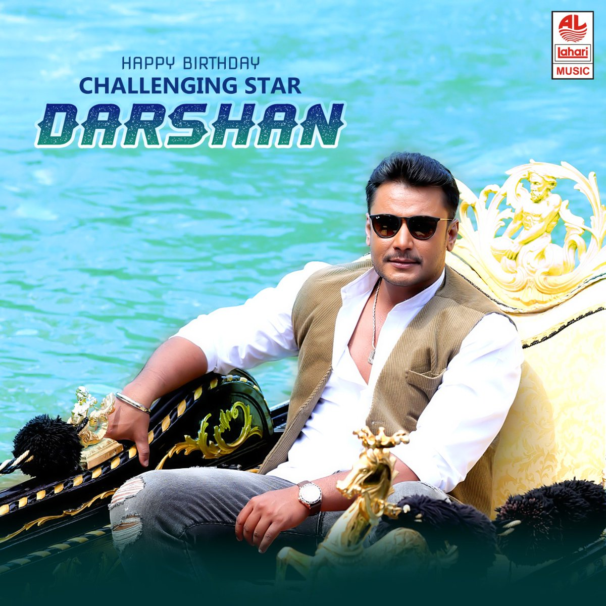 Wishing Challenging Star @dasadarshan a Very Happy Birthday !!! Listen to his superhit songs:  #HBDChallengingStarDarshan