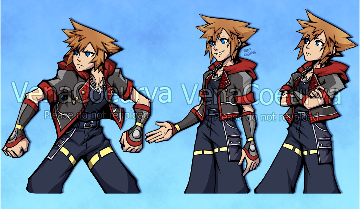 Destiny Trio in the TWEWY style! This art style is hell on the wrists with the inking but fun style though