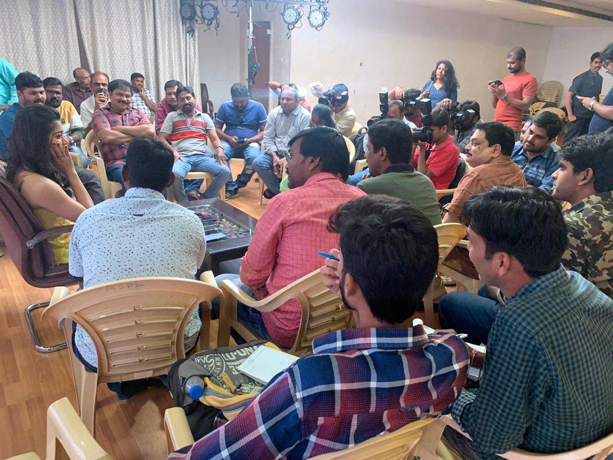 Actress @iamRashmika interacts with media... #BheeshmaOnFeb21st @actor_nithiin @VenkyKudumula @mahathi_sagar @vamsi84 @adityamusic @SitharaEnts