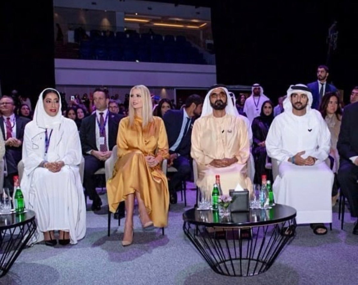 Thank you to His Highness Sheikh Mohammed bin Rashid Al Maktoum and Her Highness Sheikha Manal bint Mohammed Al Maktoum for your gracious welcome.  It was an honor to speak to at the Global Women's Forum Dubai and We-Fi Regional Summit. #WGDP 🇺🇸🇦🇪