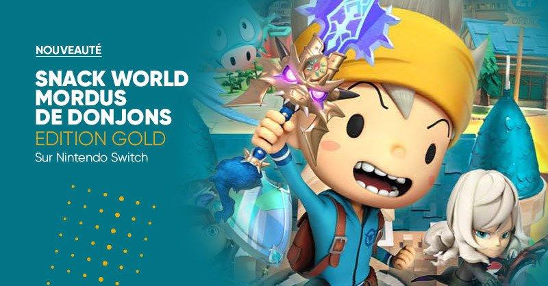 GAMING 🎮 | Nouveauté ✨ Snack World Mordus de Donjons Edition Gold - sur Nintendo Switch 🗡 est disponible à la Fnac ! 👌👉