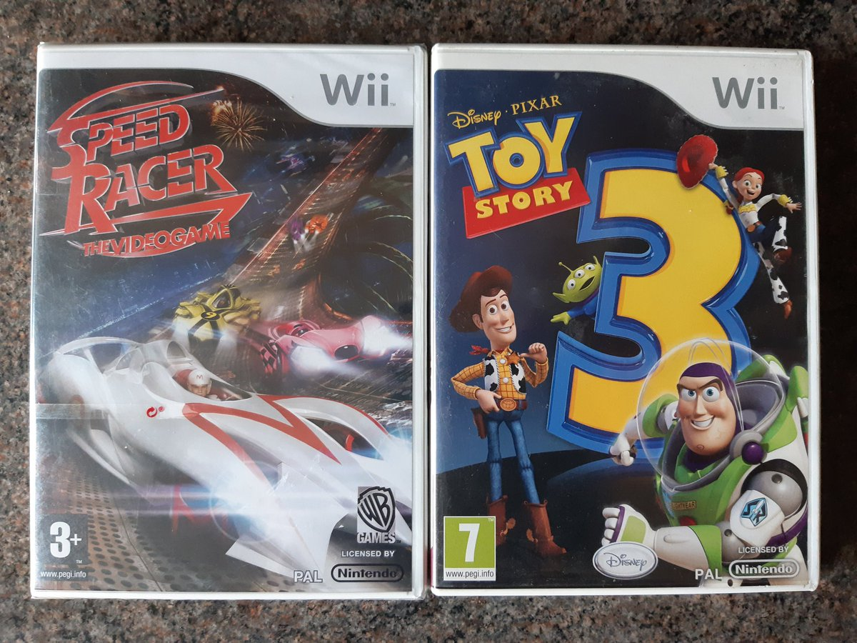 Only Wii games in the charity shop this morning, but Speed Racer is brand new and sealed 👍  #sealedsunday