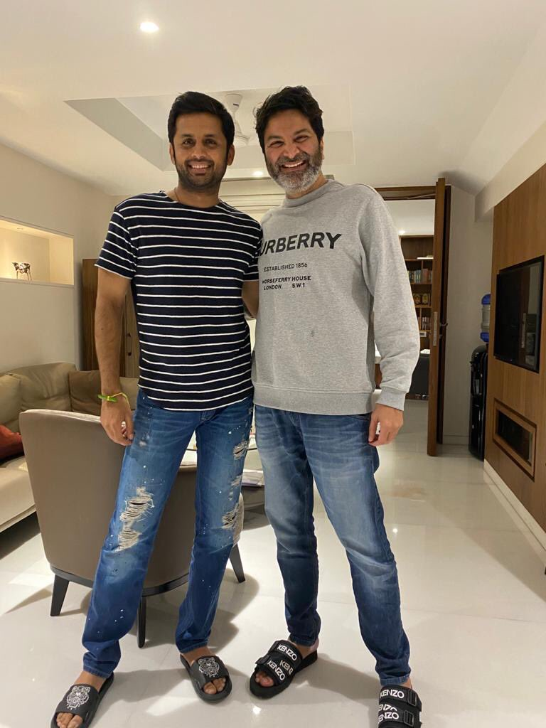 It is a blessing to be in the company of Guruji, #Trivikram garu at any moment.  I admire and adore him so much that words fall short to describe it. I am happy to announce that he will be there to wish us all the success at #BheeshmaPreReleaseEventTomorrow Excited!!