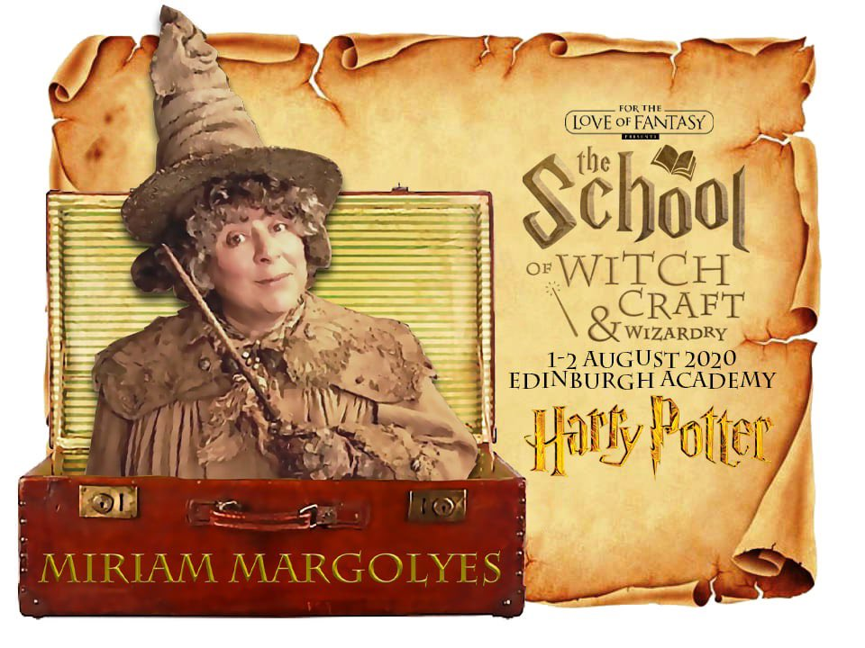 Did you know you can meet @Miriammargolyes aka Professor Sprout from Harry Potter in Edinburgh this August ? photos, autographs, live Q&A sessions where you ask the questions Don't miss out on meeting Professor Sprout and friends, tickets are on sale now