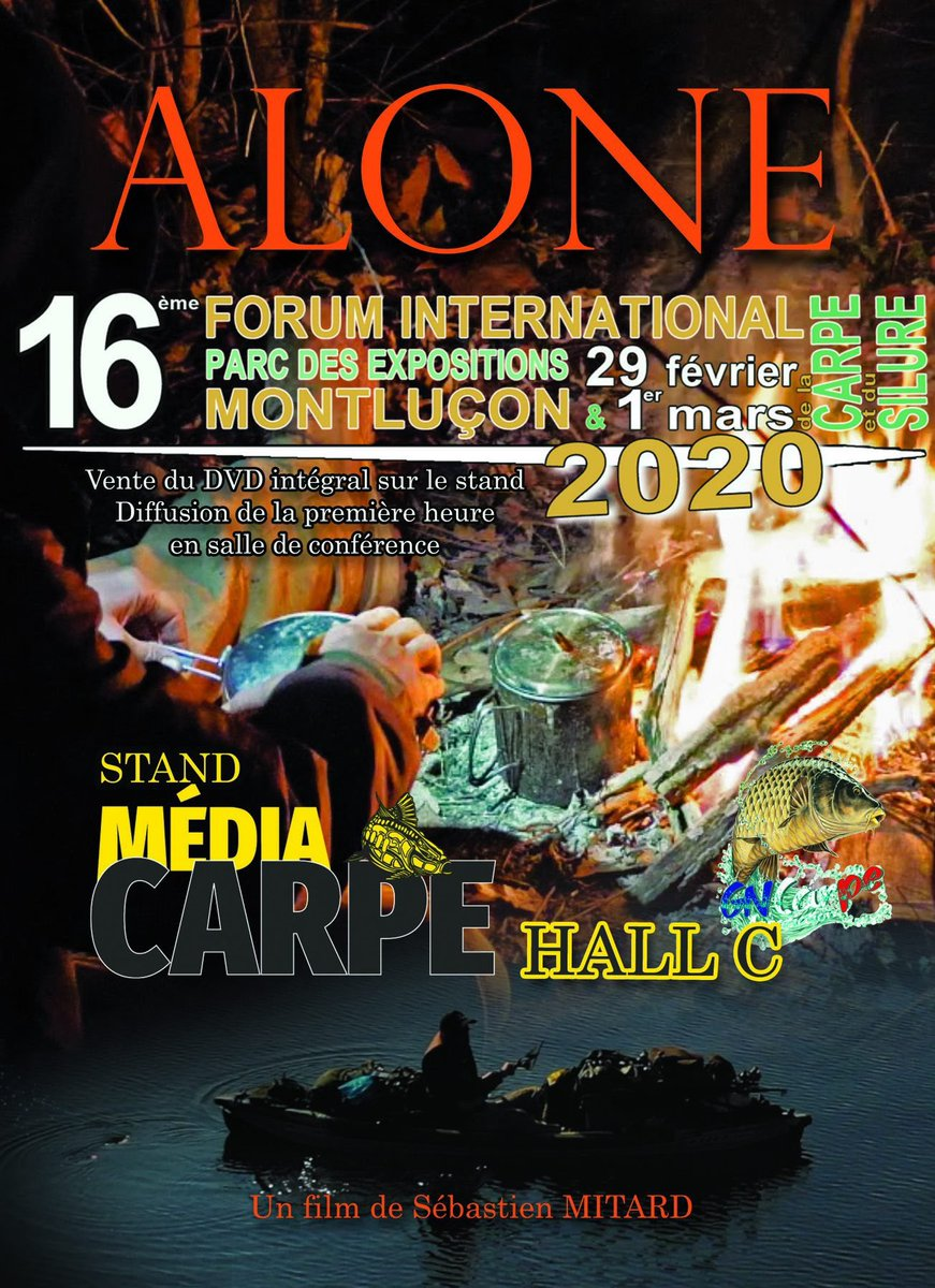 Retrouvez moi Hall C, stand MédiaCarpe. #forumde<b>Mont</b>lucon #CarpFishing #alone #sebastienmita