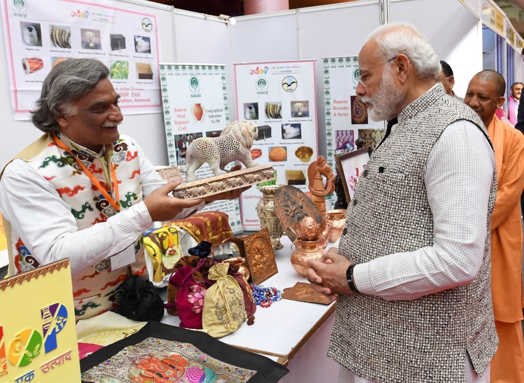 The programme 'Kashi Ek Roop Anek' brilliantly showcased the success of the Uttar Pradesh Government's One District One Product initiative. This effort will go a long way in furthering prosperity in the lives of many, particularly those associated with the MSME sector. https://t.co/aKp9kndTsM