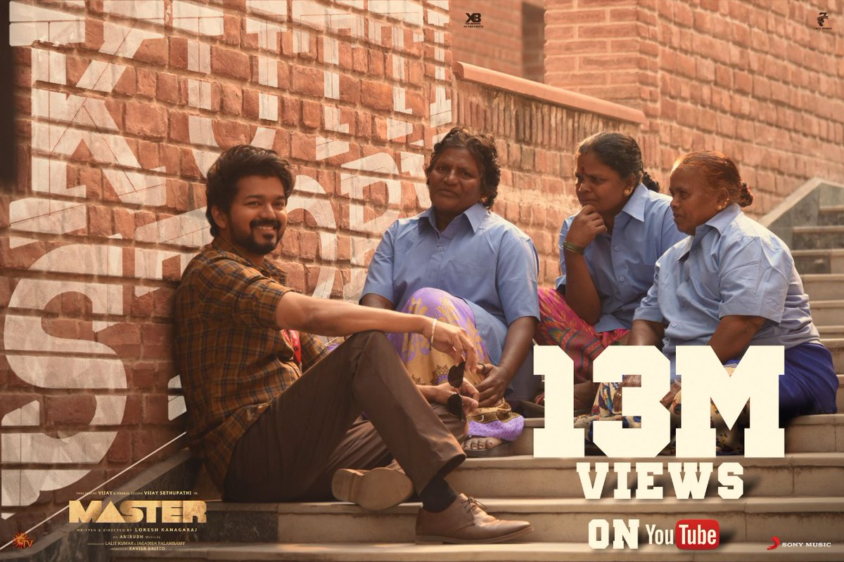 WE STRIKE A PHENOMENAL 1️⃣3️⃣ NANBA! 💥😍 #Master @actorvijay 13 MILLION real-time views for #Thalapathy's #KuttiStory ➡️
