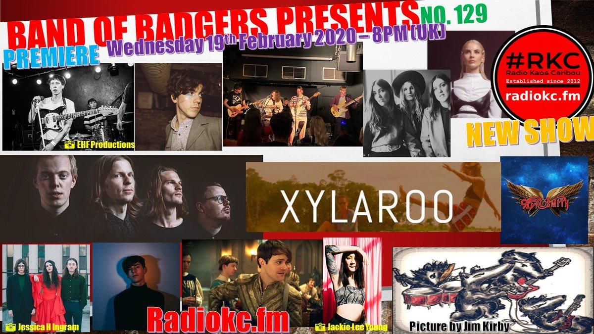 NEW #BandofBadgers show @RadioKC TOMORROW 8pm!  #Music frm  @DeclanMcKenna @thisislyra @SarpaSalpaMusic @JBrekkie @thecosmicsband @octoberdrift @WildwoodKin @joeybateyuk @JoeDolman96 @Krksl  @Aerosmith @Xylaroo   #NewMusicDaily #internetradio #radio #newmusictuesday #newmusic