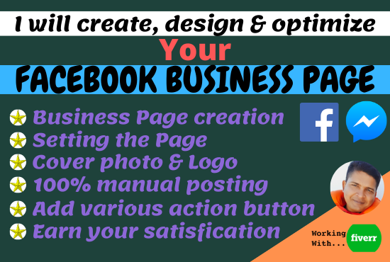 If you want to create a Facebook Business Page for your ongoing business please knock me. I will create, design, optimize and manage your Facebook business page. Try me in Fiverr. Click the following link please.    #DAYTONA500 #LGBTQProud #ARSNEW #COYG