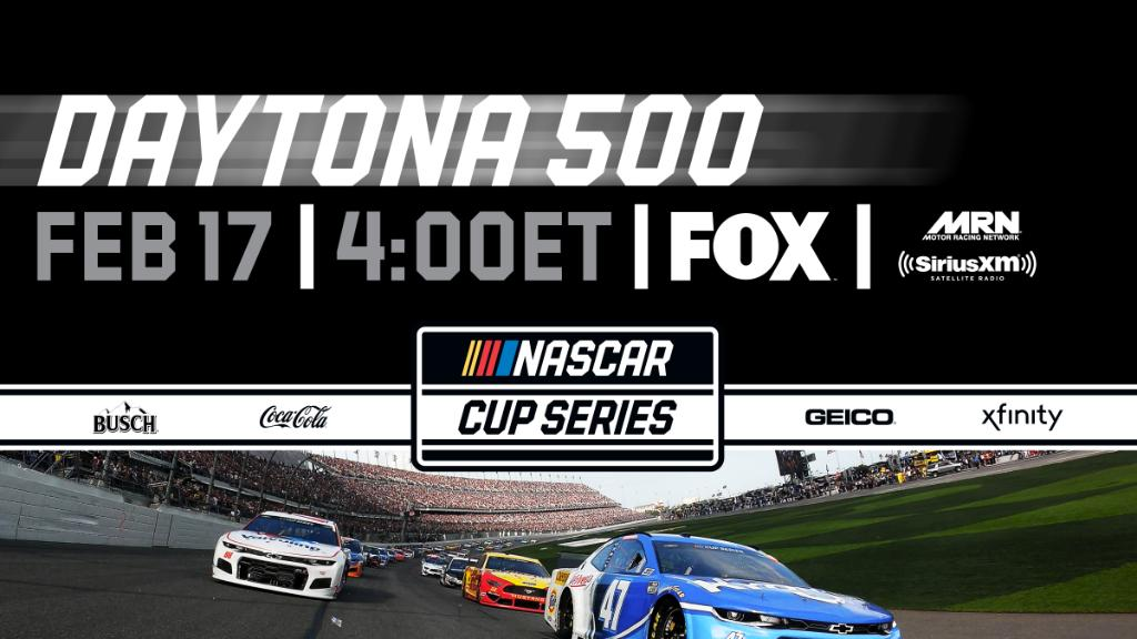 NEWS: Today's 62nd running of the #DAYTONA500 has been postponed due to inclement weather.  The race will resume on Monday at 4 PM ET on FOX.