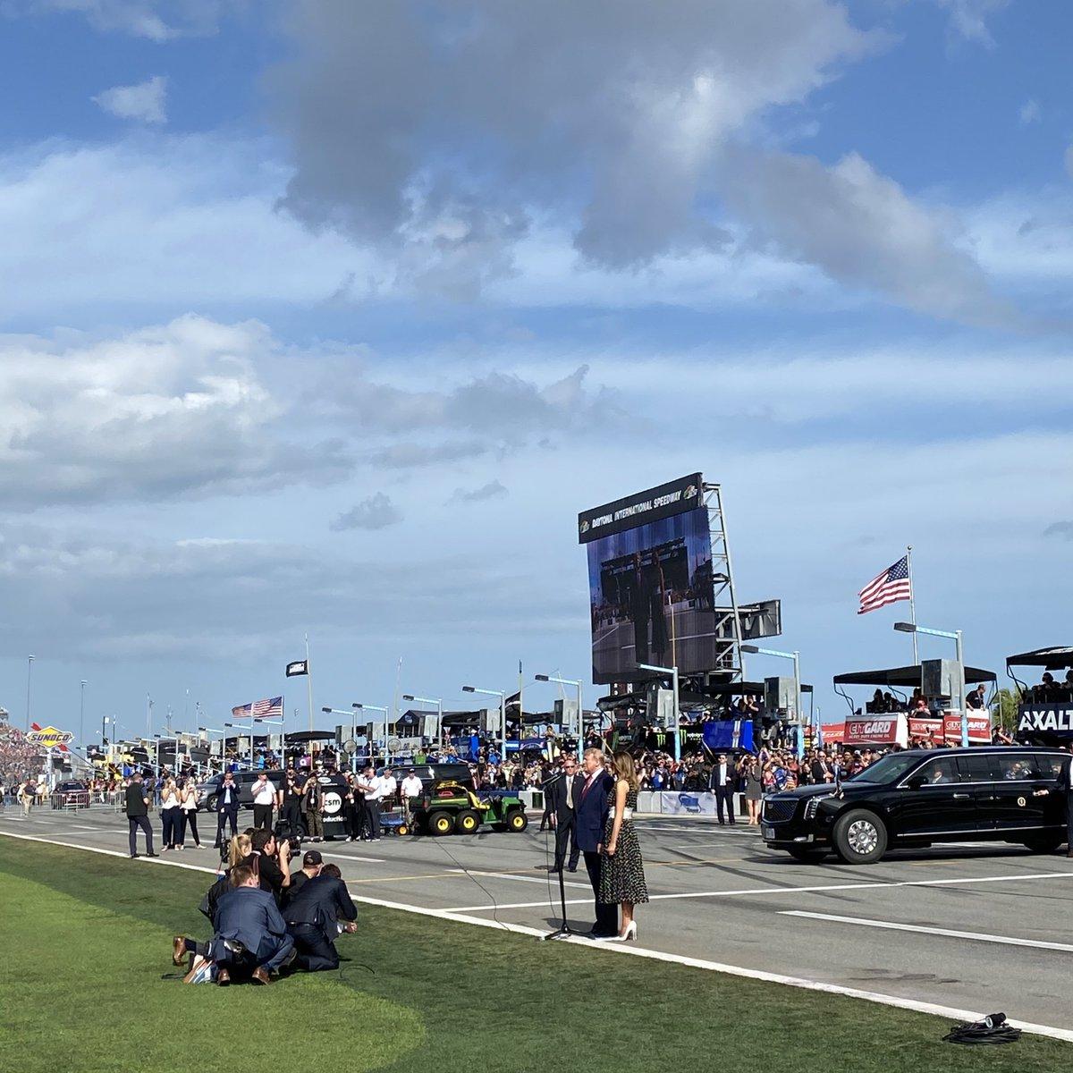 Scenes from President Trump's visit to Daytona 500