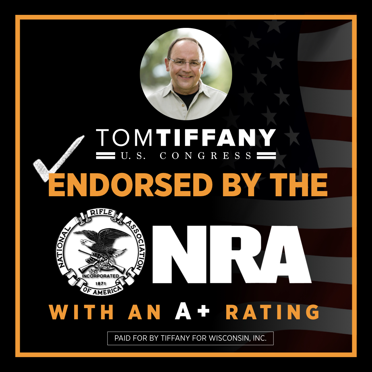 As an @NRA lifetime member with an A+ rating, I'm proud to be the ONLY candidate in this race endorsed by the National Rifle Association.   You can count on me to work with @realDonaldTrump to protect the 2nd Amendment.   #2A #WI07 #MAGA #KAG @NRAPVF