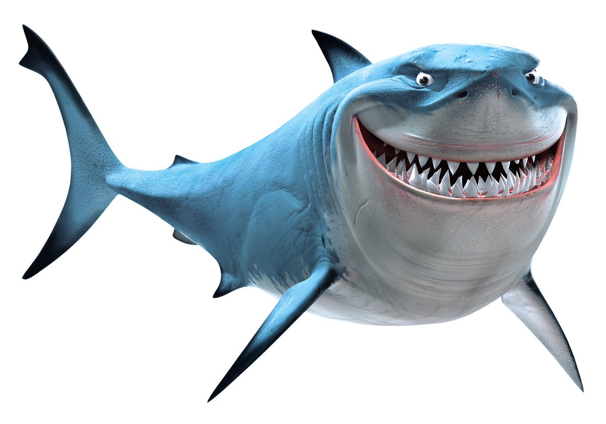 Bruce from Finding Nemo had no visible claspers (male shark genitalia) which means he is actually canonically female. This is a fact.