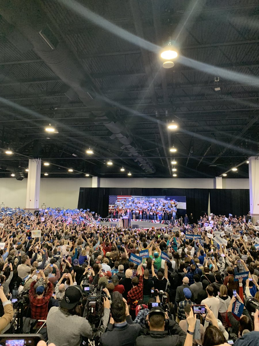 RT @WaPoSean: Crowd count at @BernieSanders rally in Denver, per the campaign: 11,400. https://t.co/dRwmgFJNHH