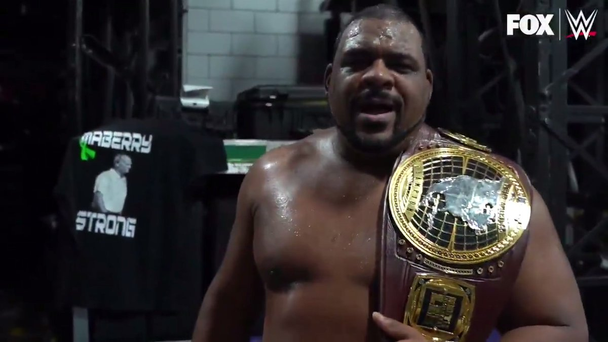 First successful title defense✅ Next up: #WWEBackstage  Get ready to bask in the glory of @RealKeithLee tomorrow, at 11e/10c, on @FS1.