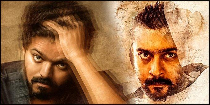 Both 1st Look #Poster  Pakkaaaaaaaa.......! Marana Mass🔥🔥🔥  #Master and #SooraraiPotttru  @actorvijay sir and @Suriya_offl sir