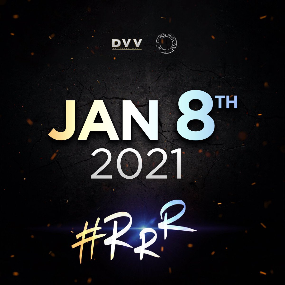 #RRR will hit the screens on January 8th, 2021! We know the wait is long but we promise to keep giving you updates in the meanwhile. #RRROnJan8th
