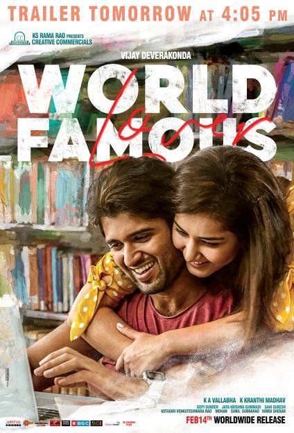 World 4 - The girl you fell in love with in college 💓  Experience #WFLTrailer from tomorrow @ 4:05PM 💕  #WorldFamousLover @TheDeverakonda @RaashiKhanna @CatherineTresa1 @izabelleleite25 @aishu_dil @ksramarao45 #Kranthimadhav #KAVallabha @adityamusic @sahisuresh   #WFLonFeb14