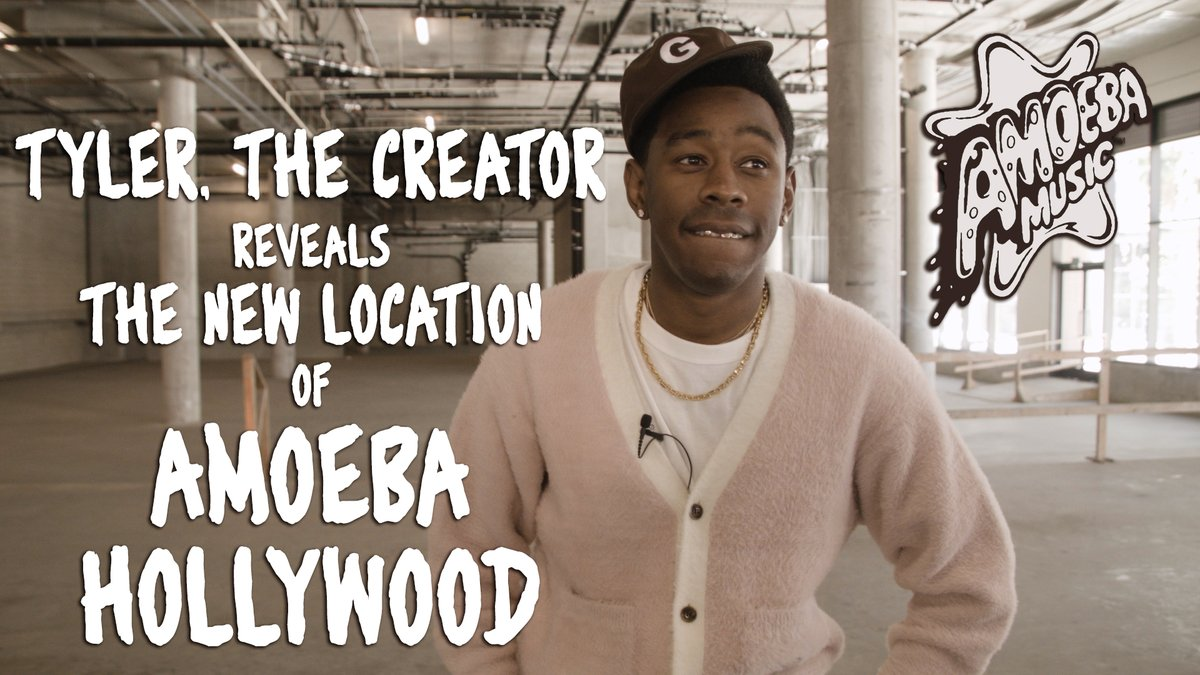 Amoeba Hollywood is moving in Fall 2020!! Our friend @tylerthecreator reveals the location and shares the first look at our new home. 👀  Watch it here:   For more info about the move + a handy FAQ ➡️