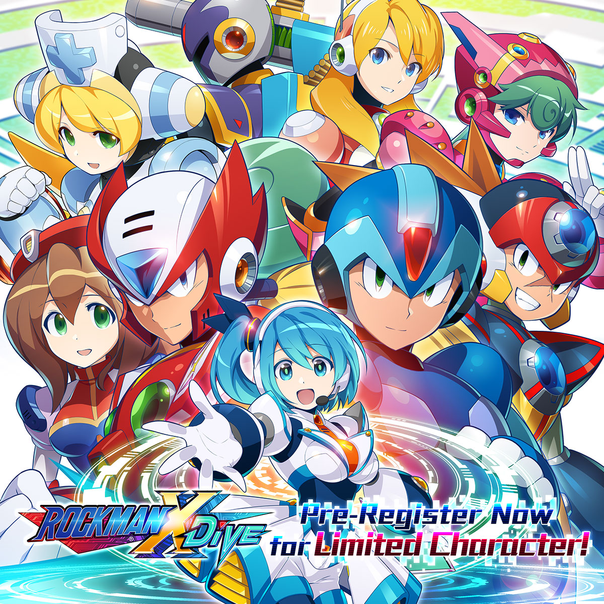 Pre-Register Event Starts  Pre-Register: Website: It's available in the following regions: Taiwan, Hong Kong, Macau, Singapore, Malaysia, Philippines, Indonesia, Thailand, Cambodia #MegaManXDiVE #RockmanXDiVE #ロックマンXDiVE