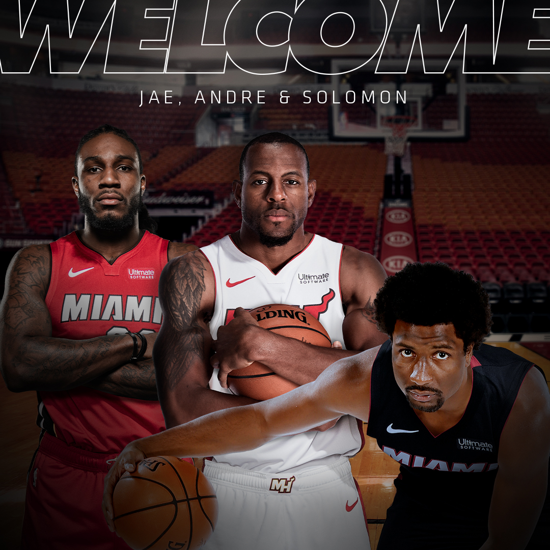 Welcome to the 305 @andre, @solohill & @CJC9BOSS! 🌴