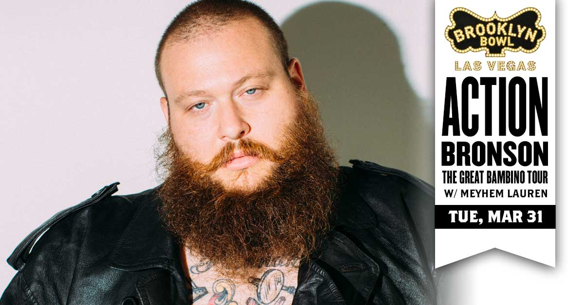 🍔 ON SALE 🍔 Grab tickets here for THE GREAT BAMBINO TOUR ft. @ActionBronson w/ @MeyhemLauren at the Bowl on TUE, MAR 31 -->>