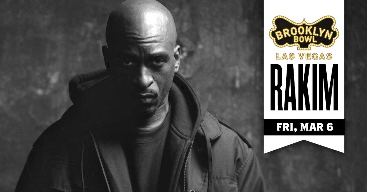 🔥 ON SALE 🔥 Revolutionary hip-hop legend, .@rakimgodmc, will be hitting Vegas on FRI, MAR 6. Don't sleep on tickets, grab yours here today -->>