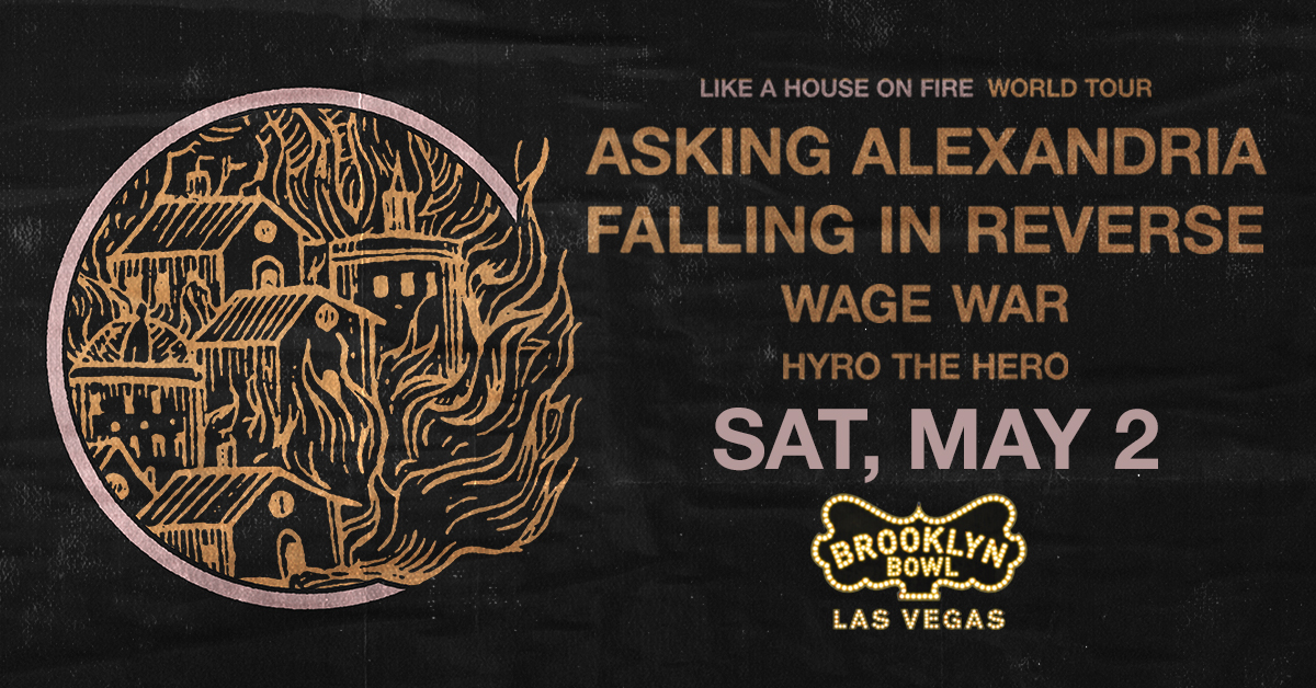👁 ON SALE 👁 Ask no more - the lineup of your dreams is here. Grab tix today to see .@AAofficial .@FIROfficial .@WageWar & .@hyrothehero on the Like The House on Fire Tour -->>