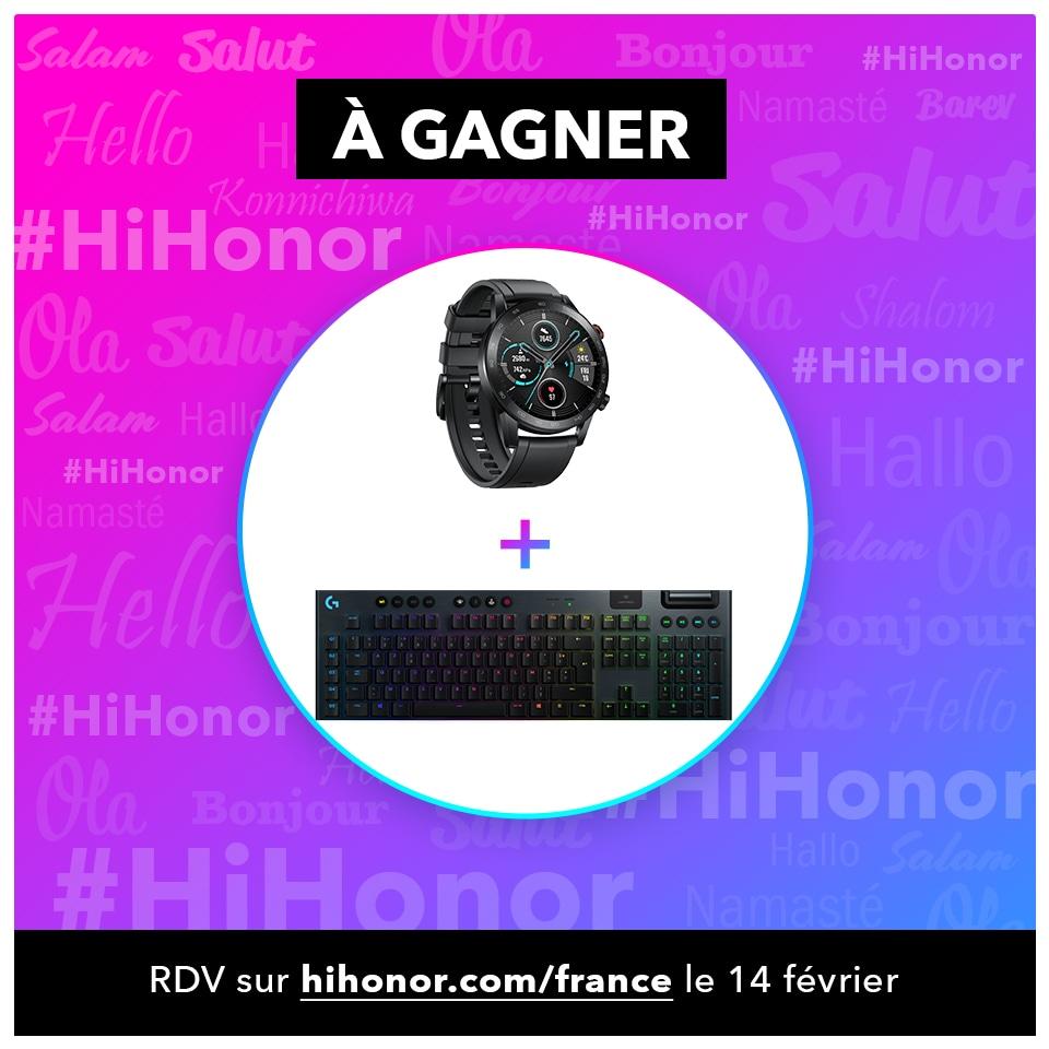 On débute cette semaine spéciale #Hihonor avec un concours ! 🎁  A gagner : une montre connectée HONOR MagicWatch 2 ⌚ et un clavier sans fil LOGITECH G915 ⌨  Pour participer :  🔁 RT ce tweet  ➡ follow  @LogitechGFrance & @Honor_FR  TAS le 14/02/2020 🤞