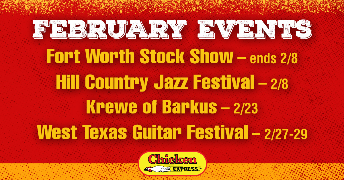 Our favorite part about Texas? All the amazing festivals of course! Pro tip: There's a #ChickenExpress in each of the hosting cities.  #SanMarcos #McKinney #Odessa