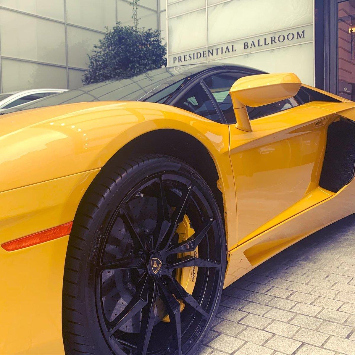A sporty kind of day...#Lamborghini #Italy #Trump #Saturday #weekend #car #sportcars #WashingtonDC #success #NeverSettle