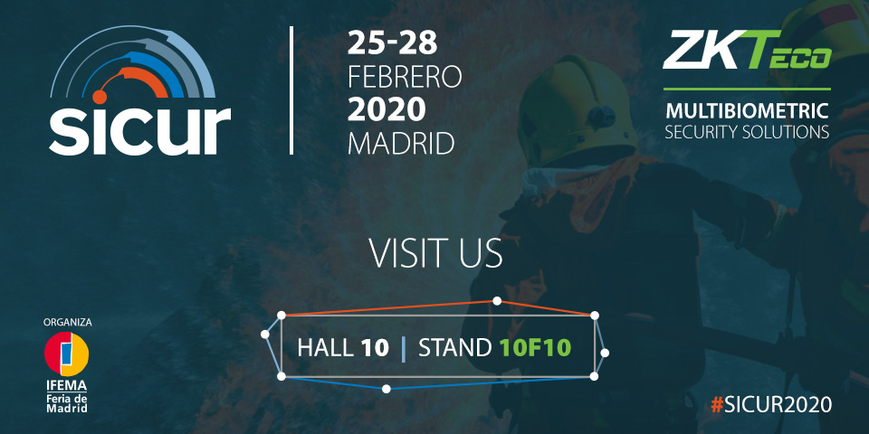 Next week we will be at the #IFEMA in #Madrid for the biennial gathering of @SICUR_ 2020. Will you be joining us? Stand 10F10 #SICUR2020  Get a free pass →