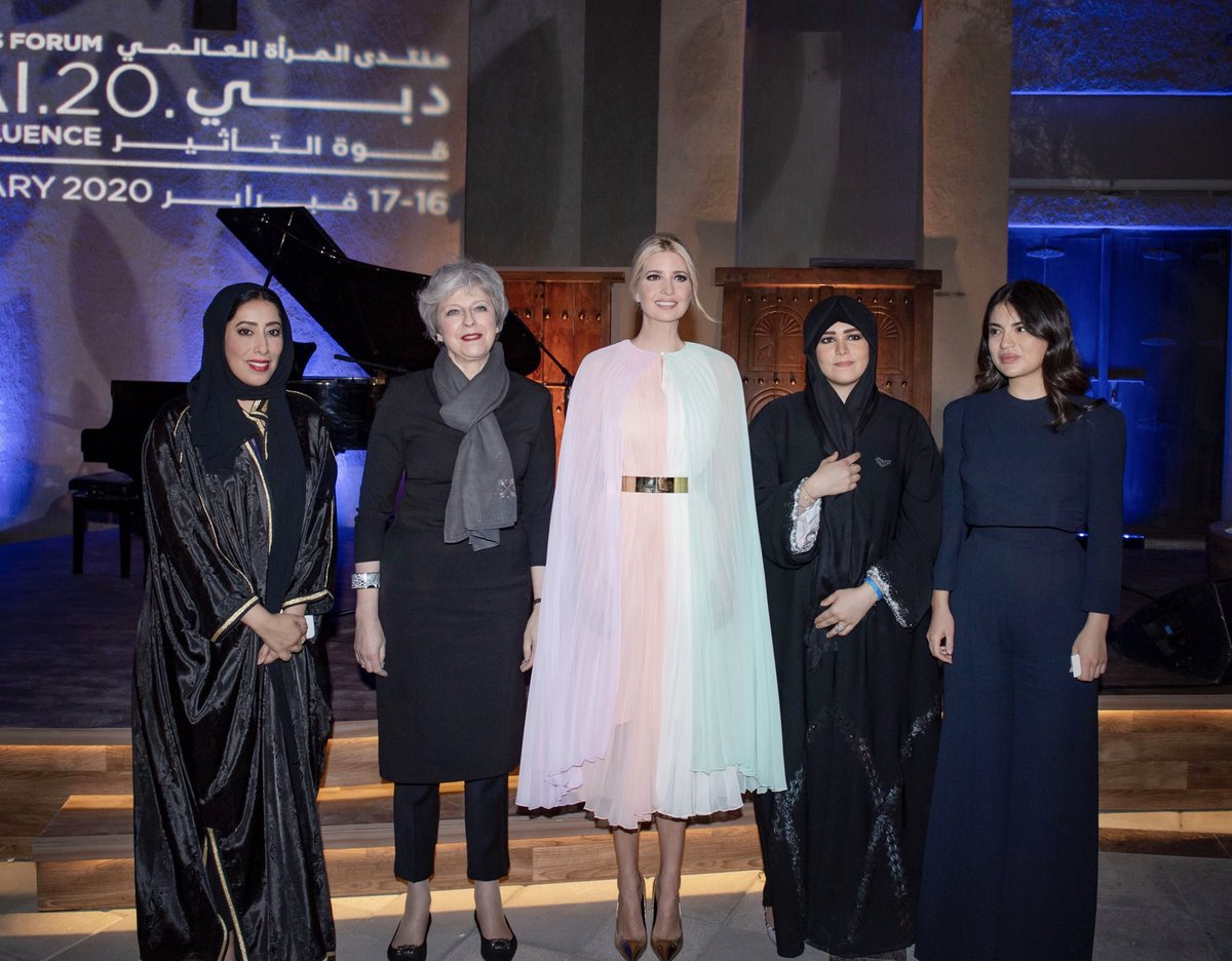 Magical evening in Dubai with H.H. Sheikha Latifa bint Mohammed bin Rashid Al Maktoum, Prime Minister May, David Malpass and Kristalina Georgieva. ✨