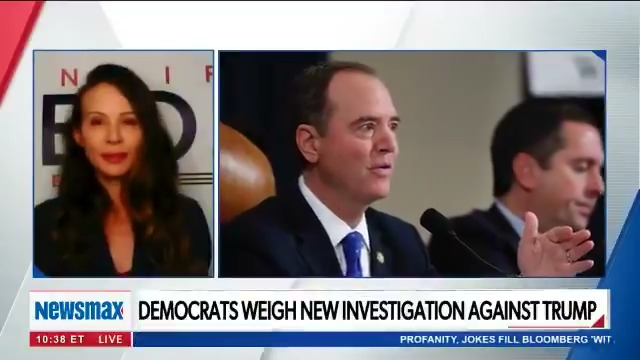 """""""He [Adam Schiff] knew the Impeachment was not going to succeed yet he insisted on focusing on that rather than issues in our district,"""" @TeamJenBarbosa tells @EmmaRechenberg on Newsmax TV's """"American Agenda"""""""