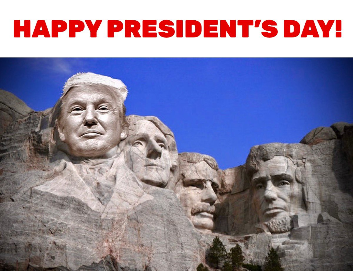 #PresidentsDay #PresidentsDay2020 #Trump2020 #DonaldTrump #mountrushmore